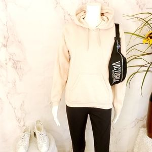 Topshop soft and comfy blush pullover hoodie